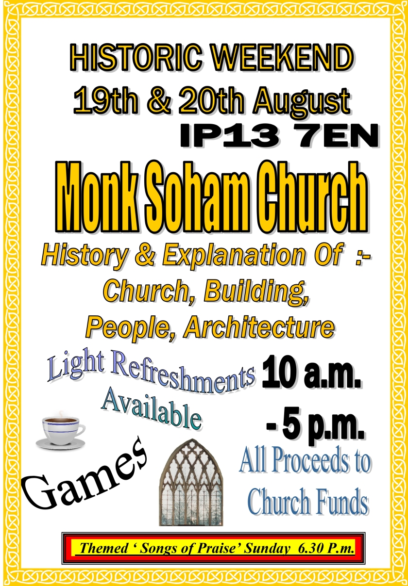 Microsoft Word - Monk Soham Church Historic Weekend